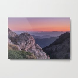 Misty Mountains At Sunset. Sierra Nevada Metal Print