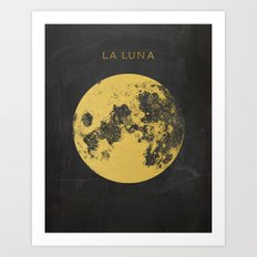 Gold Moon Art Print