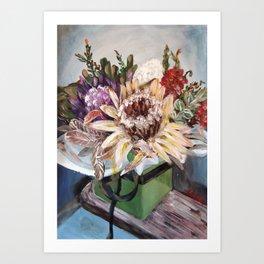 INSIDE THE GIFT BOX - Australian native dried flowers still life by HSIN LIN / H.Lin the Artist Art Print