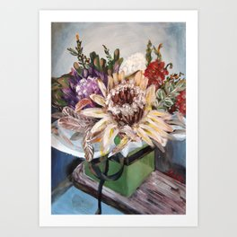 INSIDE THE GIFT BOX - Australian native dried flowers still life by HSIN LIN / H.Lin the Artist Art Print