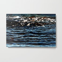 Sea water natural pattern Metal Print