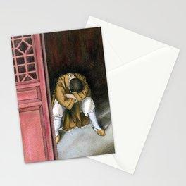 praying chinese monk Stationery Cards