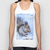 squirrel Tank Tops featuring Squirrel  by Svetlana Korneliuk