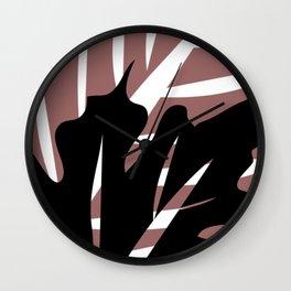 BlackLeaf Wall Clock