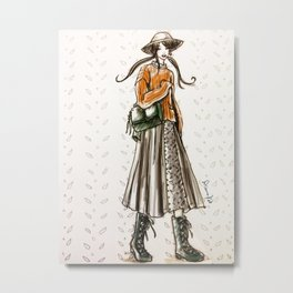Cozy country walk Metal Print