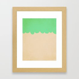 A Single Mint Scallop Framed Art Print