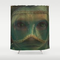 prince Shower Curtains featuring Mermaid Prince by Dream Realm Photography and Art