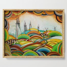 Il Camino de Santiago - Windmills Serving Tray