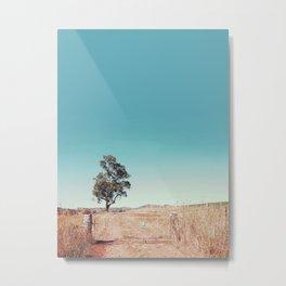 Outback Gate Metal Print
