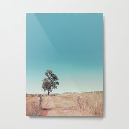 Outback Gate Metal Print