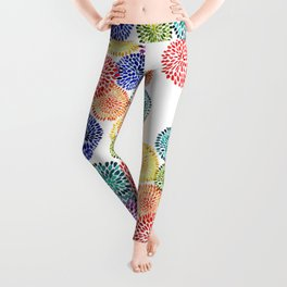 Dancing Dahlias Leggings