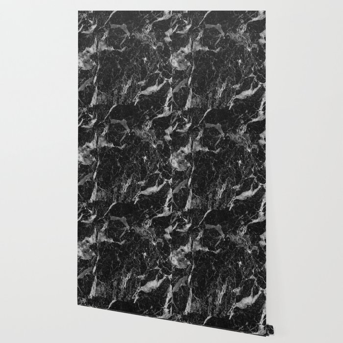 Campari Black Marble Wallpaper