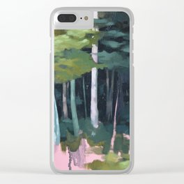 Clouds and Trunks Clear iPhone Case