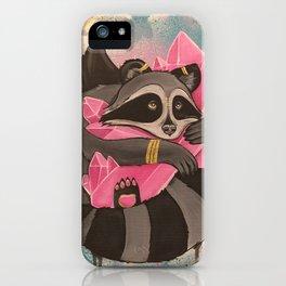 Rose Quartz Trash Panda iPhone Case