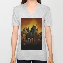 The Dark Unicorn Unisex V-Neck
