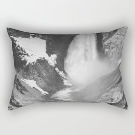 Yellowstone Falls (1941) Ansel Adams Black and White Photography Rectangular Pillow