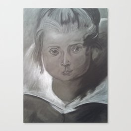 Potrait of a Young Girl Canvas Print