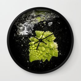 romanesco sprouts in the water Wall Clock