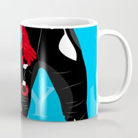 comics Mugs featuring comics sexy  by mark ashkenazi