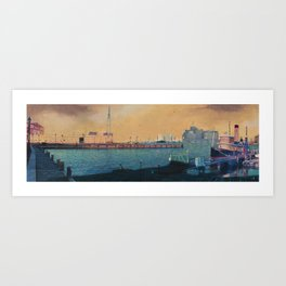 Broadway City Pier, Baltimore, MD Art Print