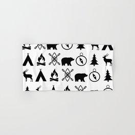 Outdoor Icon Pattern Hand & Bath Towel