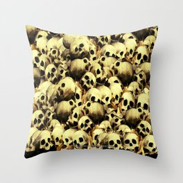 SKULL PILE 015 UP Throw Pillow