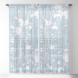 Street MAP Orlando // Blue Sheer Curtain