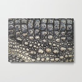 Crocodile Scale Metal Print