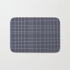 Charcoal Grid Bath Mat