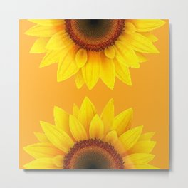 YELLOW SUNFLOWER MODERN ART Metal Print