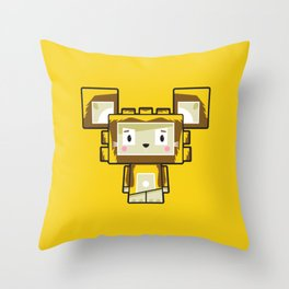 Cute Cartoon Blockimals Lion Throw Pillow