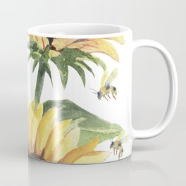 Sunflowers and Honey Bees Coffee Mug