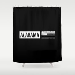 U.S. Flag: Alabama Shower Curtain