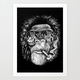 Monkey glasses Art Print