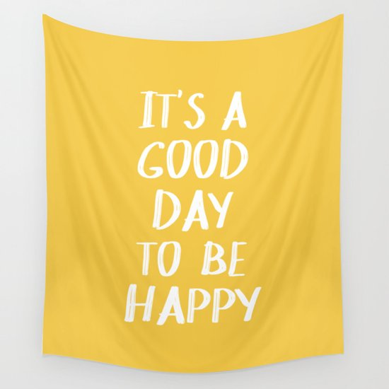 It's a Good Day to Be Happy - Yellow by blueskywhimsy