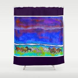 Sky Ponies #31 Shower Curtain