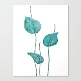 Adder's tongue fern painting Canvas Print
