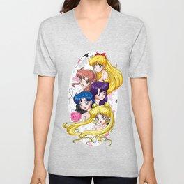 Sailor Senshi - Uncovered (Original Anime Color) Unisex V-Neck