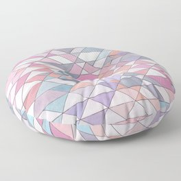 Triangle Pattern no.25 Light Pink Floor Pillow