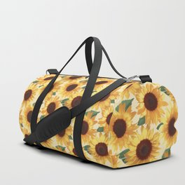 Happy Yellow Sunflowers Duffle Bag