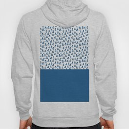 Triangles Blue Hoody