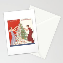 Art Nouvelle Christmas Stationery Cards