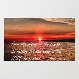 Bible Scripture Psalm 113:3 Rug
