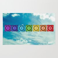 chakra Area & Throw Rugs featuring Chakra Sky by Paulobolmon