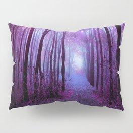 Fantasy Forest Path Purple Pink Pillow Sham