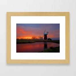 Horsey Windpump 01 Framed Art Print