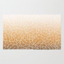 Faded orange and white swirls doodles Rug