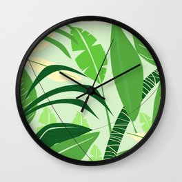 Brazil rainforest vintage travel poster Wall Clock