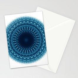 Mandala of Quantum Abundance (blue) Stationery Cards