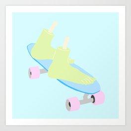 skateboarding til death Art Print